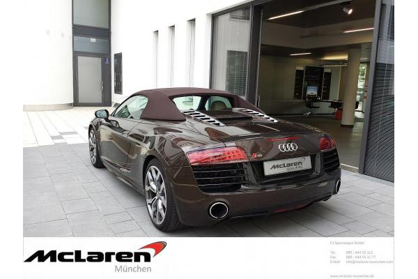 leasing durch leasing bernahme audi r8 v10 spyder facelift s tronic bj 03 2013 in m nchen. Black Bedroom Furniture Sets. Home Design Ideas
